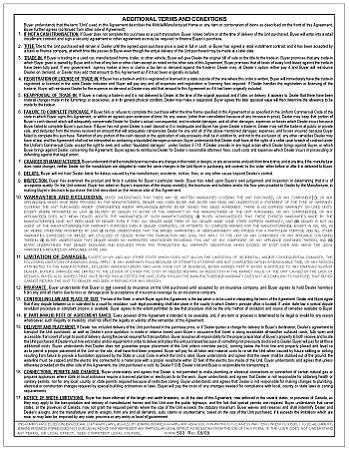Ev500 Fill Able Pdf Manufactured Housing Purchase Agreement