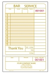 IMPRINTED GUEST CHECKS