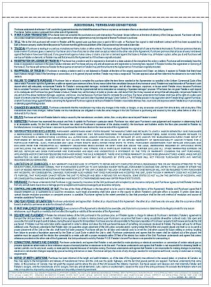Form 500MI Michigan Manufactured Housing Purchase Agreement