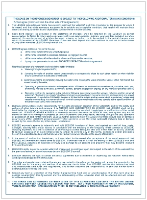 share pwr 2 part personal watercraft rental agreement part number