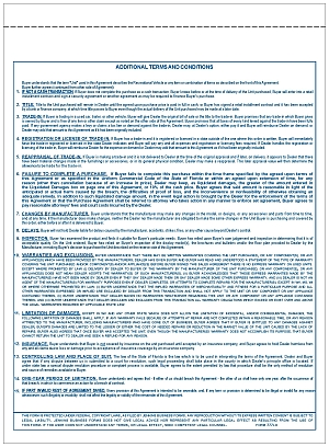 Form 777LD Florida RV Purchase Agreement