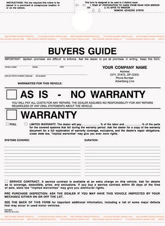 Bgs 885 3 Part Buyer S Guide Warranty