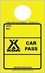 High Visibility Yellow KOA Car Pass