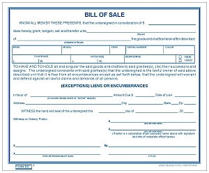 bill of salew