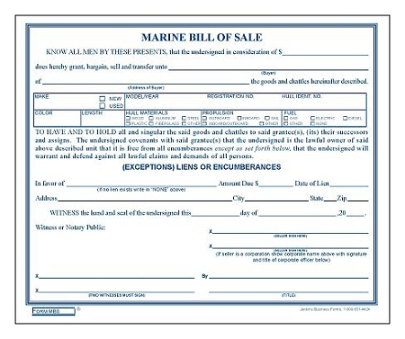 Mbs Marine Bill Of Sale