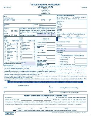 Good Form 730 Trailer Rental Agreement