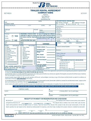 Vehicle Purchase Agreement >> 735 Trailer Rental Agreement