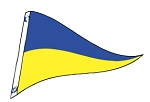 2' x 3' Blue & Yellow Nylon Pennant Flag