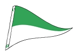 4' x 6' Green & White Nylon Pennant Flag