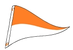 4' x 6' Orange & White Nylon Pennant Flag