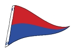 4' x 6' Red & Blue Nylon Pennant Flag