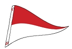 4' x 6' Red & White Nylon Pennant Flag