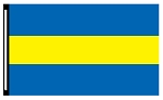 4' x 6' Blue Yellow Blue 3-Stripe Horizontal Flag