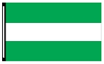 4' x 6' Green White Green 3-Stripe Horizontal Flag