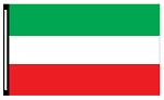 4' x 6' Green White Red 3-Stripe Horizontal Flag