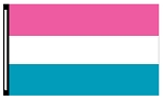 4' x 6' Magenta White Teal 3-Stripe Horizontal Flag