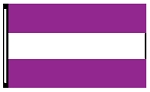 4' x 6' Purple White Purple 3-Stripe Horizontal Flag