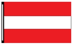 4' x 6' 3-Stripe Red White Red Horizontal Flag