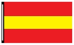 4' x 6' Red Yellow Red 3-Stripe Horizontal Flag