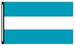 4' x 6' Teal White Teal 3-Stripe Horizontal Flag