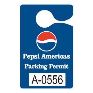 .010PT WHITE PLASTIC HANGING PARKING PERMITS