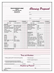 JANITORIAL CLEANING FORMS