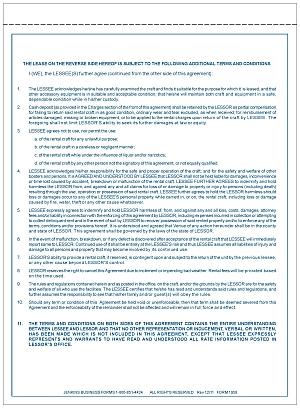 Form 1958 Boat Rental Agreement Jb Forms