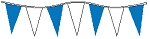 30' Blue & White Alternating 6 Mil Pennants