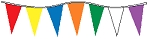 30' Multi-Colored Alternating 6 Mil Pennants