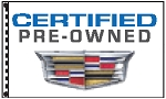 2.5' x 3.5' Cadillac Certified Pre-Owned Dealer Flag