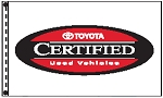 2.5' x 3.5' Toyota Certified Used Vehicle Dealer Flag
