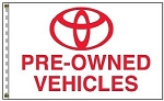 2.5' x 3.5' Toyota Pre-Owned Vehicles Dealer Flag