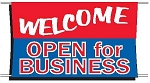Welcome Open For Business Banner