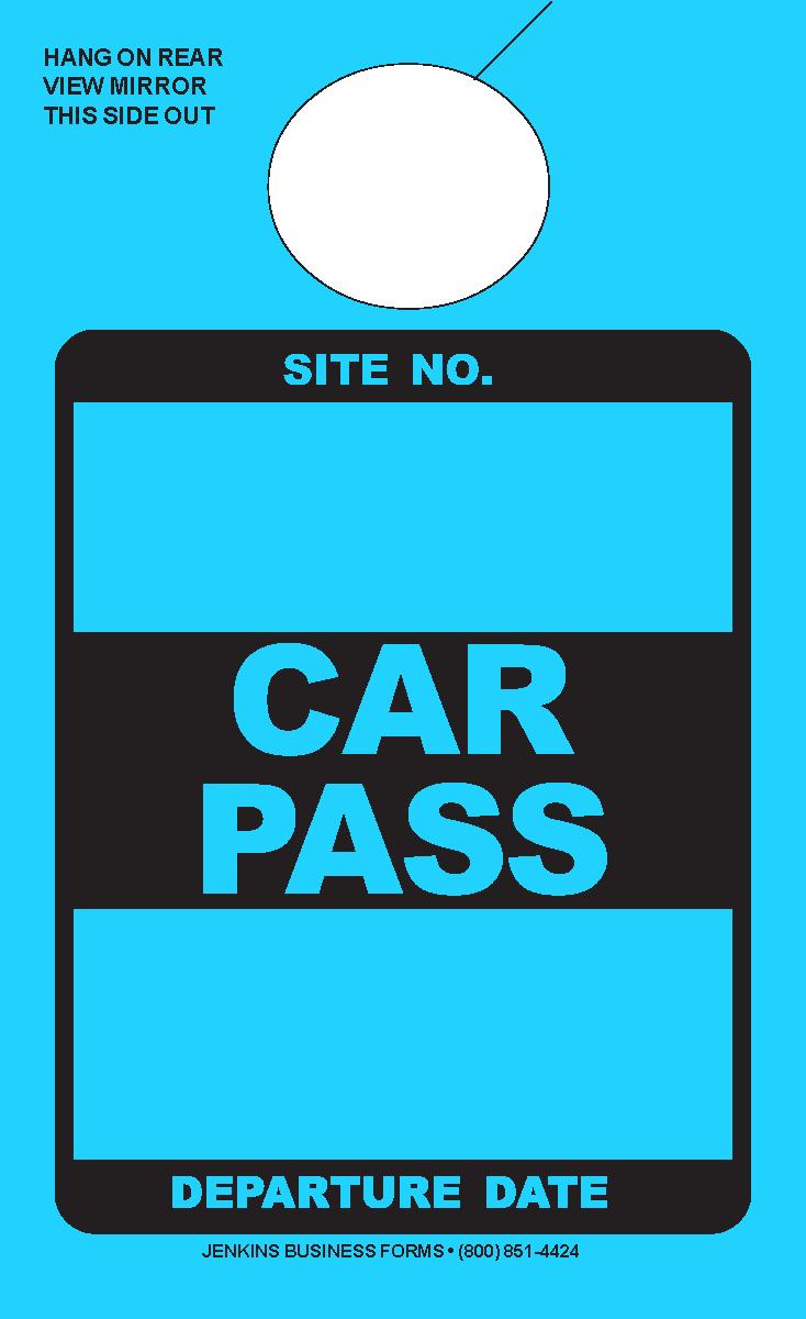 High Visibility Lunar Blue Car Pass