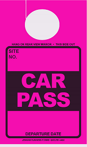 High Visibility Fuchsia Car Pass