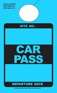 High Visibility Lunar Blue Car Pass