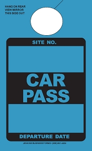 High Visibility Teal Car Pass