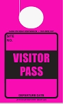 High Visibility Fuchsia Visitor Pass