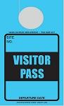 High Visibility Lunar Blue Visitor Pass