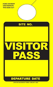 High Visibility Lemon Visitor Pass