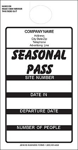 Black Imprinted Seasonal Passes