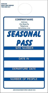 Blue Imprinted Seasonal Passes