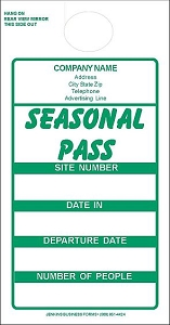 Green Imprinted Seasonal Passes