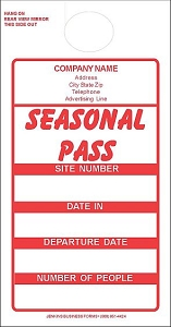 Red Imprinted Seasonal Passes