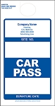 Blue Car Pass