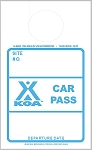 KOA Blue Car Pass