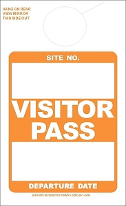 Orange Visitor Pass
