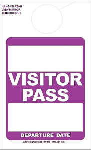Purple Visitor Pass
