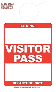 Red Visitor Pass