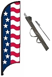 Stars & Bars Feather Flag Kit